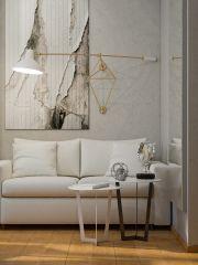 белая гостиная скандинавский стиль